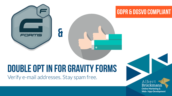 Double Opt In Addon for Gravity Forms - GDPR/DSGVO ready - 3rd party