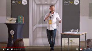 Mit Meminto Stories im ElevatorPitch bei startupBW