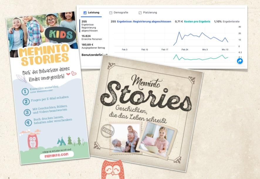 Beta-Start bei Meminto Stories